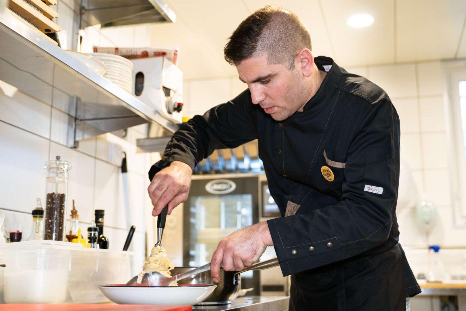 La cuisine du Café des Tramways à Épalinges